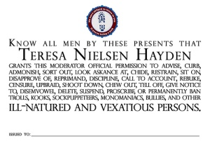 Moderator Certificate