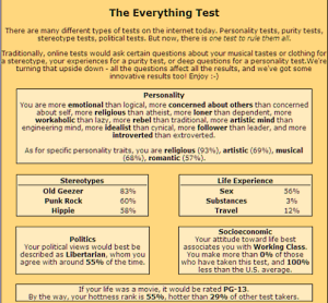 The Everything Test