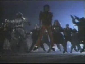 Thriller- all dancers jump on the level