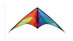 Jazz stunt kite - spectrum colors