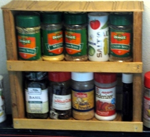 Spice rack finished