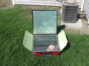 Tulsi solar-electric cooking oven front