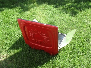 Tulsi solar-electric cooking oven back