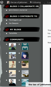 Links widget and the Community widget, the latter which I'll get to in a moment.