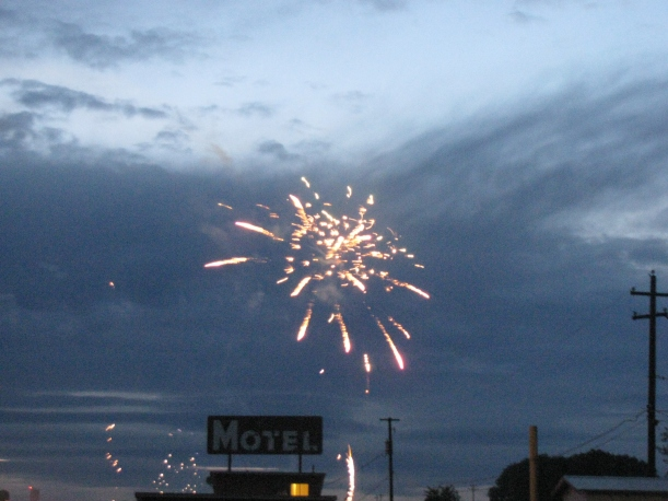 Oh snap, Princess is better at capturing fireworks than I am!